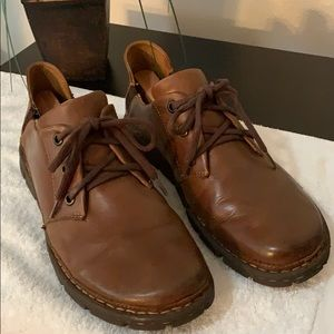 Born Mens Brown Leather Lace Up Casual Oxfords